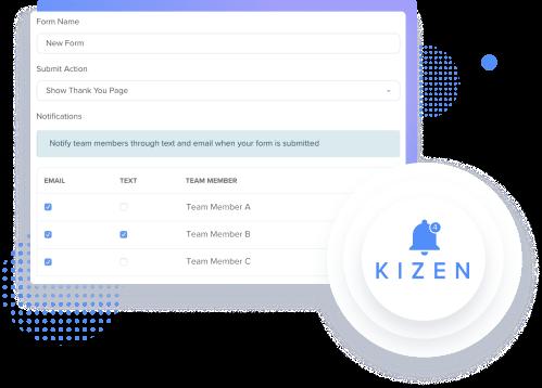 Kizen Form Notifications