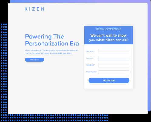Kizen Landing Pages